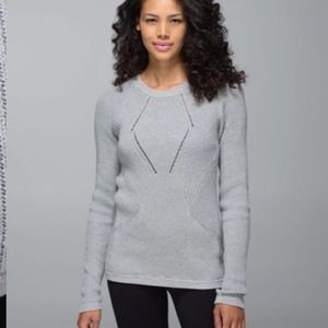Lululemon The Sweater The Better Gray 8 Knit EUC